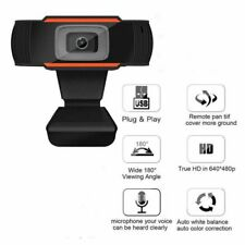 USB HD Webcam Computer Web Camera For PC Laptop Desktop Video Cam W/ Microphone