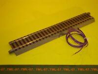 Voie ROCO GEOLINE Rail droit 200 mm avec fils d'alimentation pour TRANSFO ou DCC