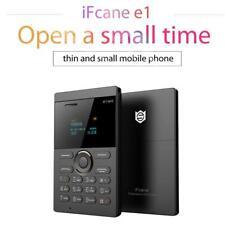 iFcane E1 Unlocked Ultrathin Pocket Phone LED SIM Card Bluetooth Mini Cellphone