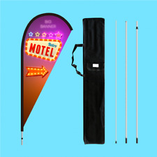 Teardrop Flag Banner With Full Colour Printing | Fiberglass Pole | Base Options