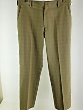 NIKE GOLF Fit dry Mens 34x32  Plaid Pants   Flat Front brown