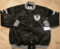 Oakland Raiders Starter Jacket 3XL Throwback Embroidered Full Button Up New NFL