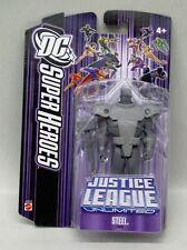 Justice League Unlimited Steel Mattel 5 inch figure NIP Purple Package S128-6