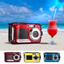 AMKOV Waterproof HD 1080P Mini Digital Pocket Camera 16 Times Zoom Built-in Mic