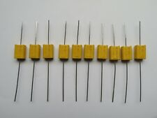 More details for 10 x philips-mullard 47nf 0.047uf 10% 400v chicklet capacitors c341 mkt nos