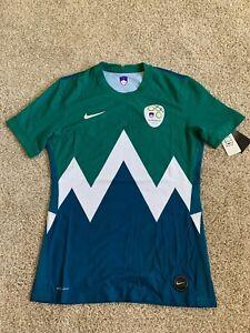 New Nike Men's Green Slovenija NZS Vapor Knit Jersey Size M