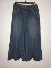 Cabi size 4 denim blue skirt modest long