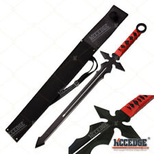 "27"" Medieval Sword With 19"" Blade Full Tang Tactical Machete Ninja Short Sword"