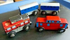 Wooden Train Car Lot Of 4 Magnetic Geoffrey Inc. Melissa & Doug