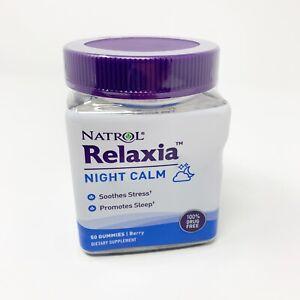 Natrol RELAXIA Night Calm, 50 Gummies Berry Non-GMO Gluten Free Exp: 02/2022
