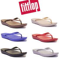 Fitflop IQUSHION Comfort Women Rubber Flip Flops Size Uk 3 - 8