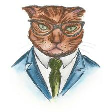 Sizzix Tim Holtz Framelits Die Set - HIPSTER CAT - 4 dies - 662247