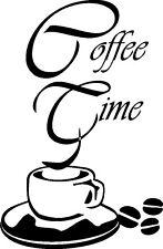 Coffeetime, Coffee-Time, Wandtattoo, Wandaufkleber, Kaffee, Cafe,Aufkleber Küche