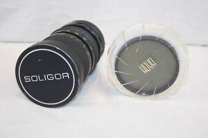Soligor Camera Lens Zoom Macro 37mm-105mm With Hoya PL72 Filter