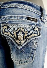 """$108 Buckle Miss Me Jean """"Thick Stitched flaps"""" Ankle Skinny 27 X 30"""