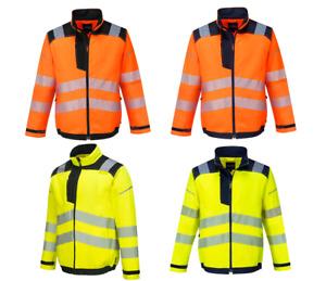 Portwest T500 Hi Vis Stain Resistant Lightweight Reflective Tape Work Jacket