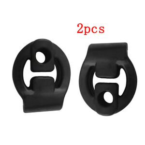 2PCS Auto Refit Rubber Exhaust Tail Pipes Mount Bracket Hanger Holders Insulator