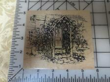 New PSX K-2886 English Cottage Doorway w/ Roses front porch K2886 rubber stamp