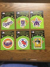 (6) 1982 Fleer Baseball Team Logo Sticker Lot B
