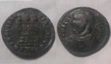 Licinius branch scepter 317 AD Camp gate turrets Rare genuine Ancient Roman coin