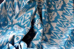 1 Decke Türkis Ikat  220 x 250 Baumwolle Sofa Überwurf Tagesdecke Bettüberwurf