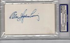 Index Card Autograph - Alex Wojciechewicz - Det & Philly - HOF - PSA/DNA