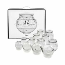 Glass Cupping Therapy Set With Guidance On Application And Aftercare - Multi .