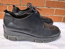 Reaction Kenneth Cole Black  Leather Lace Up Men Shoes size US 10