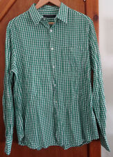 French Connection Green & White Check Shirt L