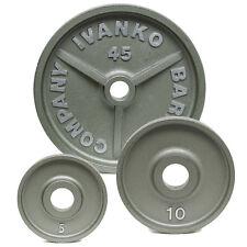IVANKO OM Series Olympic Machined Plates - 457.5 LB Set  NEW!
