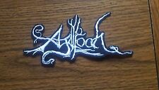 AGALLOCH,IRON ON WHITE EMBROIDERED PATCH