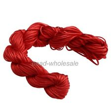 1 Hank ( 27 Metres ) Nylon Braided Braiding Cord Thread 1mm Kumihimo PICK COLOUR