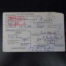 LETTRE PRISONNIER DE GUERRE STALAG VIII C -> ST MANDÉ KRIEGSGEFANGENENPOST POW