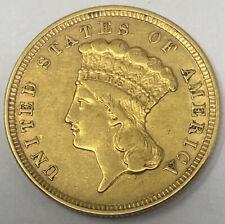 1854 $3 Three Dollar Indian Princess Gold Coin Nice!