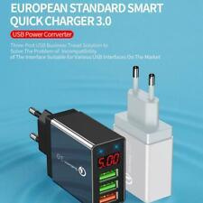 4 Multi-Ports Fast Quick Charge QC 3.0 USB Hub Wall Charger Adapter UK/US Plug