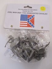 Toy Soldiers of San Diego Set 15 Dismounted CSA Cavalry, Grey 12 figures