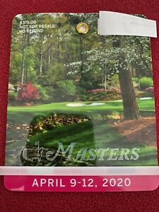 2020 Masters Badge - The Masters Golf Tournament