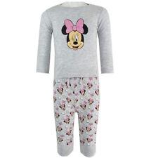 Disney Minnie Maus - Baby Shirt und Hose Set - Langarmshirt - Grau - Gr. 62-92