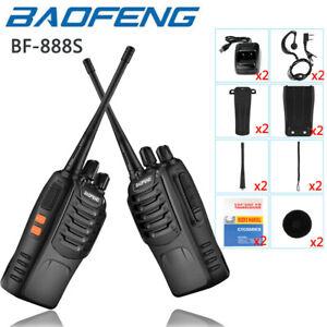 Walkie Talkie Handfunkgerät Sprechfunkgeräte BF-888S Baofeng Set 2pcs 10km DE