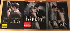 Fifty Shades of Grey, Darker and Freed 3 DVD LOT UNRATED EDITIONS