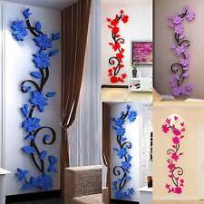3D DIY Wall Sticker Flower Vinyl Quote Decal Decor Art Home Room Removable Mural