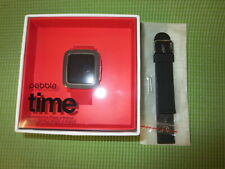 New - Pebble Time SmartWatch 501-00022 Red w/ extra black band, Apple & Android