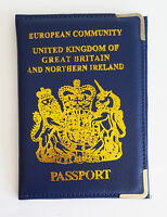 New Passport Holder UK and European Passport Protector Leather Cover Wallet UK