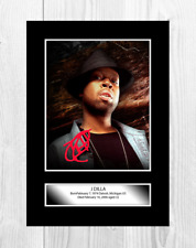 J Dilla Rapper A4 reproduction autograph poster with choice of frame