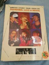 Shinhwa live in Seoul winter story tour 2004-05 DVD set photobook kpop k-pop