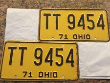 1971 OHIO Auto License Plates-NICE!!