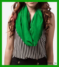 100% CASHMERE CLASSIC FASHION KELLY GREEN COLOR SCARF VERY SOFT S#9
