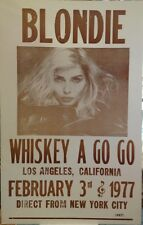 "Blondie Concert Poster - 1977 - Whiskey A Go Go, Debbie Harry - 14""x22"""