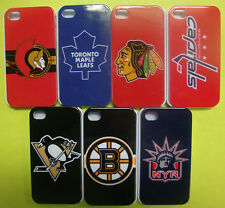 NHL Hockey Team case hard back cover for iphone 4 4s 4g