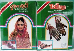 2 Pack Dulhan Deluxe Henna Mehndi Mehandi Tattoo 100grams Powder